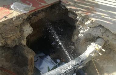 Este es el tubo madre que se encuentra con daños.