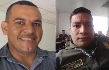 PT José Javier Arenas Fuentes (izq) - PT Cristian Montes Cruz, herido.