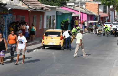 Carrera 29 con calle 20 del barrio Rebolo, donde se registró uno de los ataques a bala.