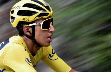 Egan Bernal ratificó su liderato y título del Tour de Francia en la etapa 20 de ayer.