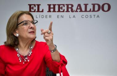 La barranquillera Margarita Cabello Blanco, ministra de Justicia, en entrevista con EL HERALDO.