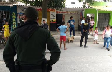 Carrera 12 con calle 44 del barrio Soledad 2.000, donde fue asesinado un hombre en la mañana de este sábado.