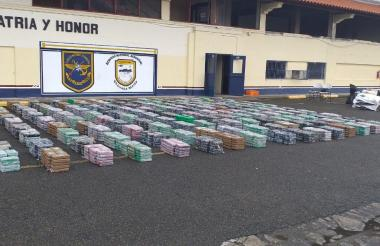 La droga incautada por las autoridades panameñas.