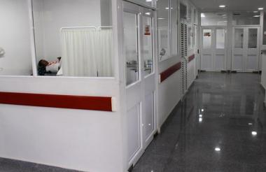 Salas de atención del hospital de Luruaco.