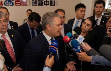 Iván Duque Márquez, presidente de Colombia, durante su visita a China.