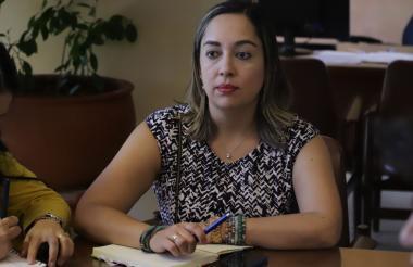 Claudia García, secretaria de Movilidad de Santa Marta.