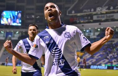 Yohandry Orozco anotó un gol con el Puebla de México en el primer semestre de 2019.