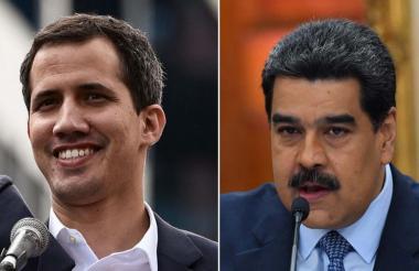 Juan Guaidó, líder opositor; Nicolás Maduro, presidente de Venezuela.