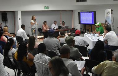 Aspecto de la audiencia que se realiza en la Contraloría General de Barranquilla.