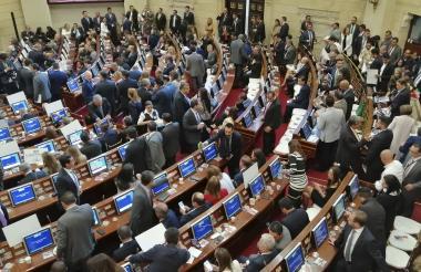 Aspecto de la sesión de instalación de la actual legislatura del Senado realizada el pasado 20 de julio.