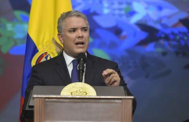 Iván Duque Márquez, presidente de Colombia, durante un discurso el pasado 20 de julio.
