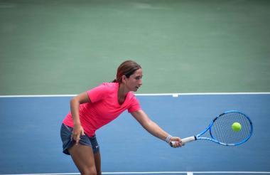 María Gabriela, en el torneo Cosat de Barranquilla.