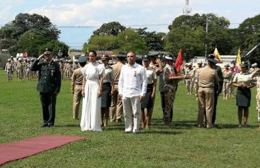 Aspecto de la conmemoración de los 200 años del Ejército Nacional.
