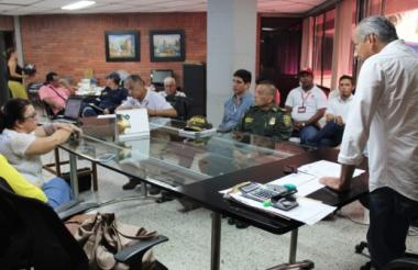Reunión del Consejo Departamental para la Gestión del Riesgo de Desastres.