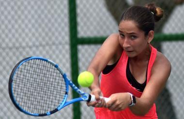 María Gabriela Mejía durante la disputa de la final.