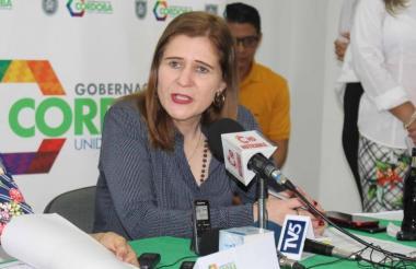Sandra Devia, gobernadora de Córdoba.