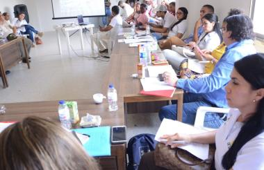 La sesión del Ciptad ayer en San Onofre se efectuó en la Casa de la Cultura.