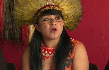 Lideresa indígena.