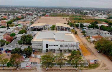 Fachada del hospital del municipio de Malambo.