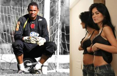 Bruno Fernandes (izq) y Eliza Samudio (der), su pareja que desapareció en 2010.