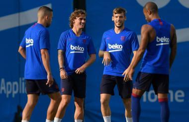 Antoine Griezmann debutará hoy con el Barcelona.