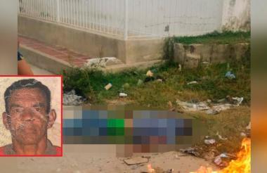 Ernesto Fontalvo Ariza (en el recuadro) quedó tendido en vía pública tras el ataque.