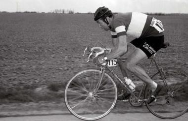 Foto tomada el 13 de abril de 1969 durante la carrera Paris-Roubaix.