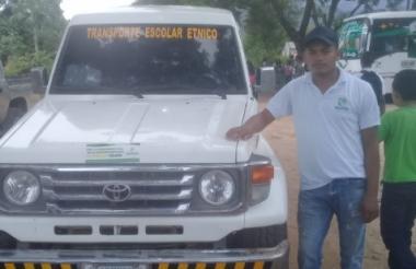 Yoiser Rivero Gómez, el conductor de la camioneta que pretendían hurtar delincuentes.