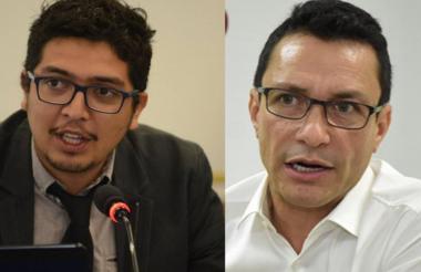 Pedro Vaca, director Ejecutivo de la Flip; y Carlos Caicedo, candidato a la gobernación del Magdalena.