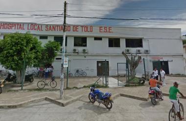 Fachada de la ESE Hospital Local de Santiago de Tolú, Sucre.