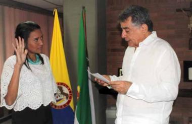 El gobernador Edgar Martínez Romero posesionó el 1° de mayo a la directora de Inder.