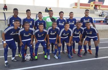 El equipo de la Arenosa FC que compite en el Torneo Nacional sub-23.