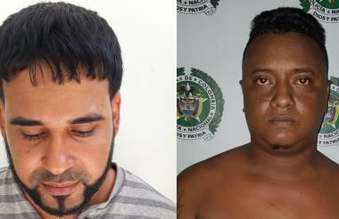 Eduardo Collazo De la Cruz, alias Piercing, y Edin Manuel Guzmán, alias el Mane, capturados.