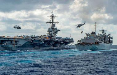 Buques de la marina estadounidense.