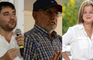 Jaime Pumarejo, Bernardo Hoyos, Elsa Noguera.