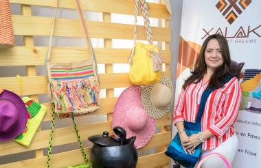 Angélica de Lima, exportadora de artesanías.