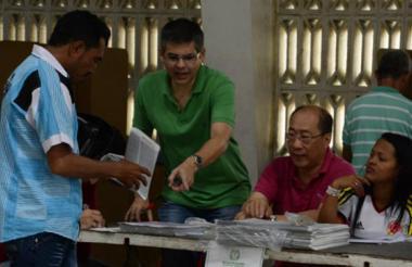 Jurados de votación.