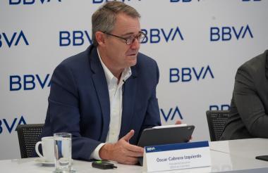 El presidente de BBVA en Colombia, Óscar Cabrera Izquierdo.
