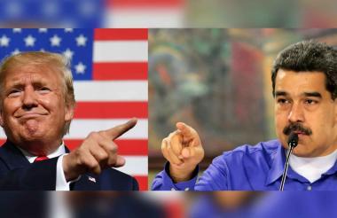 Donald Trump y Nicolás Maduro, presidentes de Estados Unidos y Venezuela, respectivamente.