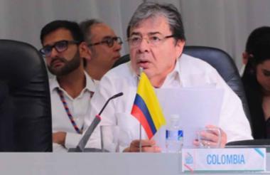 Canciller Carlos Holmes en San Pedro Sula.