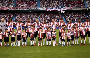 El onceno titular del Junior que jugó contra el América de Cali en el estadio Metropolitano Roberto Meléndez, el domingo 4 de agosto.