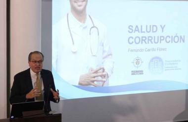 El procurador en su intervención en el foro en Bogotá.