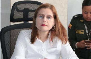 La gobernadora de Córdoba, Sandra Devia.