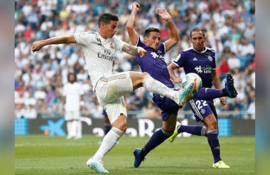 El colombiano James Rodríguez tuvo una destacada actuación en el juego de este viernes ante el Valladolid.