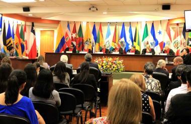 Reciente sesión de la Corte Interamericana de Derechos Humanos.