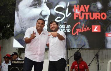 Óscar David Galán Escalante, concejal que quiere ser reelegido. Junto a Jaime Pumarejo, candidato a la Alcaldía.