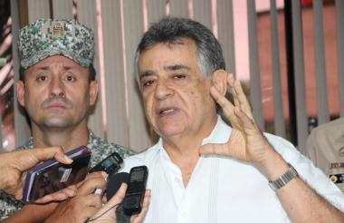 Édgar Martínez Romero, gobernador de Sucre, al final del consejo de seguridad.