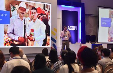 Juan Córdoba, presidente de la BVC, en su intervención en el Congreso de Acopi.