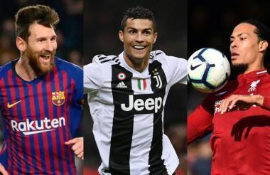 Messi, Cristiano y Van Dijk.
