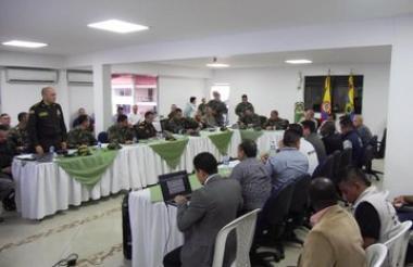 Durante el Consejo de Seguridad en Suárez, Cauca.